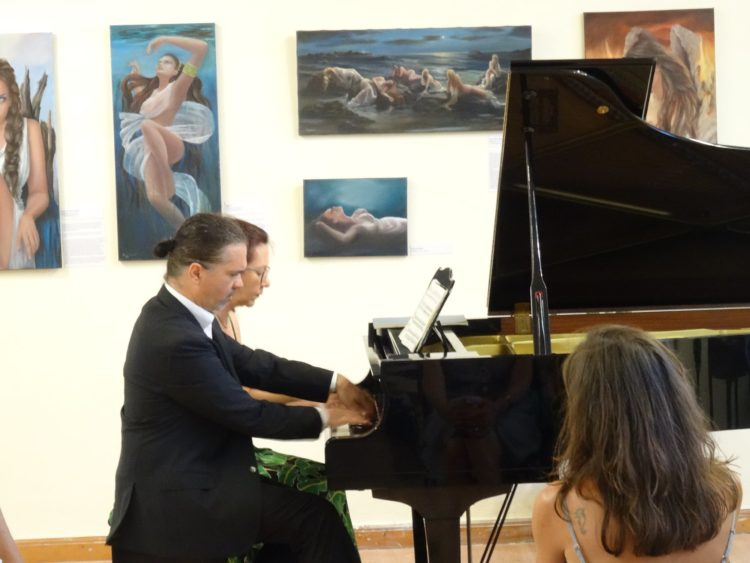Beata Pincetic and Christos Sakellaridis in a very technical piano duo